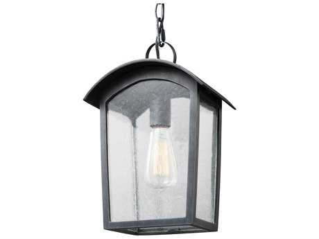 Feiss Hodges Ash Black One-Light 9'' Wide Edison Outdoor Hanging Latern FEIOL13309ABLK