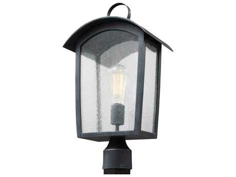 Feiss Hodges Ash Black One-Light 10.75'' Wide Edison Outdoor Post Latern