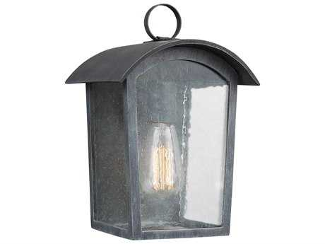 Feiss Hodges Ash Black One-Light 7'' Wide Edison Outdoor Wall Latern