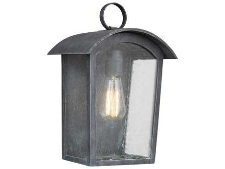Feiss Hodges Ash Black One-Light 9'' Wide Edison Outdoor Wall Latern