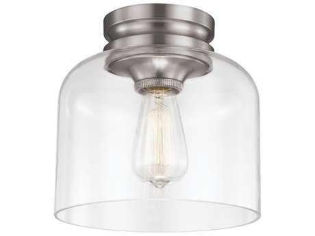 Feiss Hounslow Brushed Steel Flush Mount Light FEIFM404BS