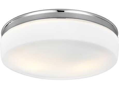 Feiss Issen Chrome Two-Light 13.5'' Wide Edison Flush Mount Celling Light FEIFM504CH