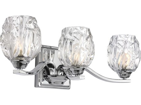 Feiss Kalli Chrome Three-Light 20'' Wide Vanity Light with Clear Glass Shade FEIVS22703CHL1
