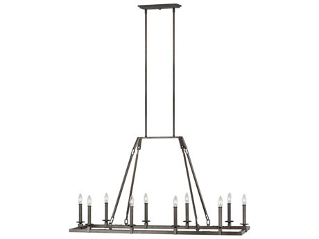 Feiss Landen Smith Steel 48'' Wide Island Light FEIF321810SMS