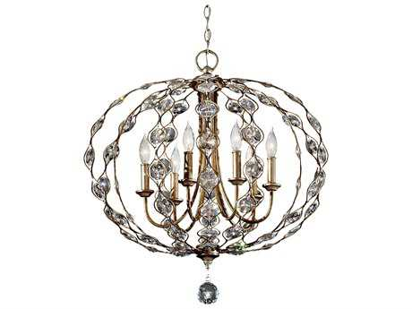 Feiss Leila Burnished Silver 27.75'' Wide Six-Light Chandelier FEIF27406BUS