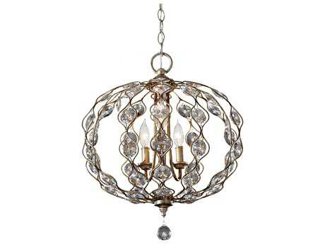 Feiss Leila Burnished Silver 19'' Wide Three-Light Chandelier FEIF27413BUS