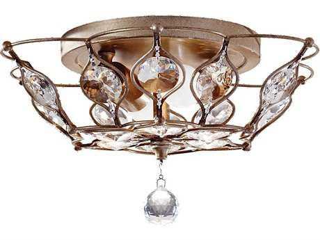 Feiss Leila Burnished Silver Two-Light Flush Mount Light FEIFM374BUS