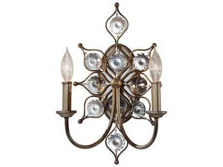 Feiss Leila Burnished Silver Two-Light 10.63'' Wide Wall Sconce FEIWB1579BUS