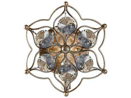 Feiss Leila Burnished Silver 8.25'' Wide Wall Sconce FEIWB1585BUS