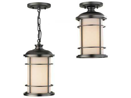 Feiss Lighthouse Burnished Bronze 7'' Wide Edison Bulb Outdoor Hanging Pendant Light with Opal Etched Glass Shade FEIOL2209BB