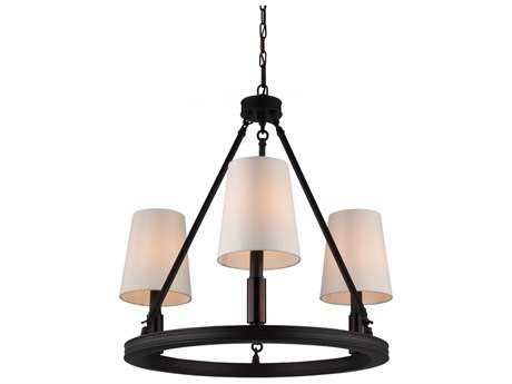 Feiss Lismore Oil Rubbed Bronze 23'' Wide Three-Light Chandelier FEIF29213ORB