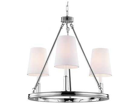 Feiss Lismore Polished Nickel 23'' Wide Three-Light Chandelier FEIF29213PN