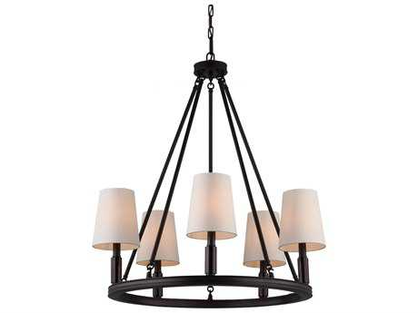 Feiss Lismore Oil Rubbed Bronze 28'' Wide Five-Light Chandelier FEIF29225ORB