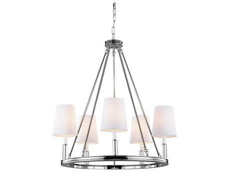 Feiss Lismore Polished Nickel 28'' Wide Five-Light Chandelier FEIF29225PN