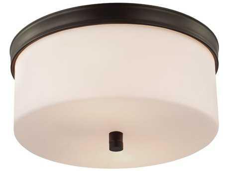 Feiss Lismore Oil Rubbed Bronze Two-Light Flush Mount Light FEIFM401ORB