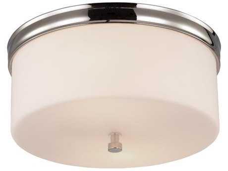 Feiss Lismore Polished Nickel Two-Light Flush Mount Light FEIFM401PN