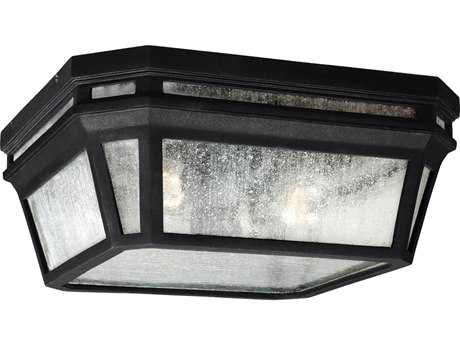 Feiss Londontowne Black Two-Light Outdoor Ceiling Light