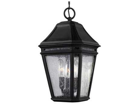 Feiss Londontowne Black Three-Light Outdoor Pendant Light FEIOL11309BK