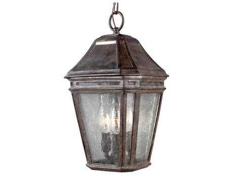 Feiss Londontowne Weathered Chestnut Three-Light Outdoor Pendant Light FEIOL11309WCT