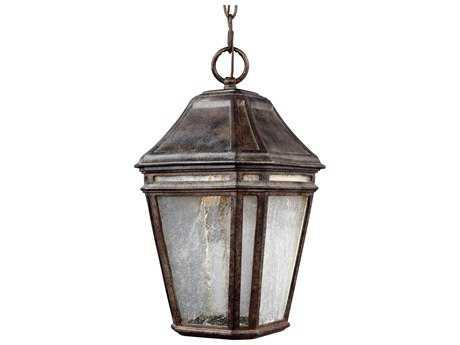 Feiss Londontowne Weathered Chestnut 2700K / 1120 Lumen LED Outdoor Pendant Hanging Light FEIOL11309WCTLED