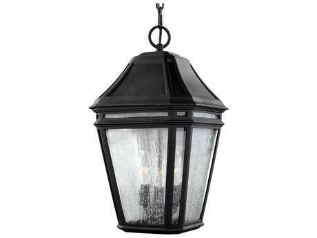 Feiss Londontowne Black Three-Light Outdoor Pendant Light FEIOL11311BK