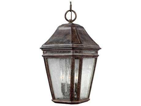 Feiss Londontowne Weathered Chestnut Three-Light Outdoor Pendant Light FEIOL11311WCT