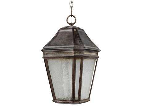 Feiss Londontowne Weathered Chestnut 2700K / 1760 Lumen LED Outdoor Pendant Hanging Light FEIOL11311WCTLED