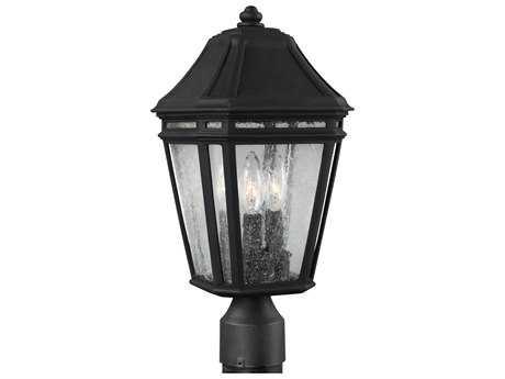 Feiss Londontowne Black Three-Light Outdoor Post Light FEIOL11307BK