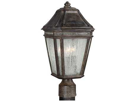 Feiss Londontowne Weathered Chestnut Three-Light Outdoor Post Light FEIOL11307WCT
