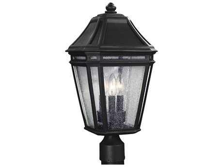 Feiss Londontowne Black Three-Light Outdoor Post Light FEIOL11308BK