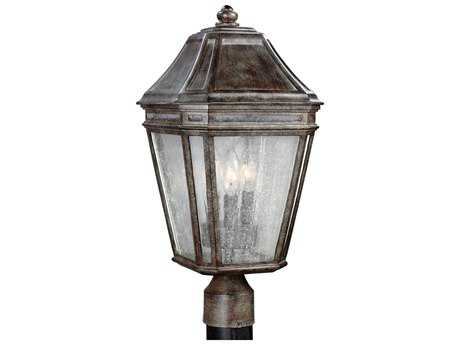 Feiss Londontowne Weathered Chestnut Three-Light Outdoor Post Light FEIOL11308WCT