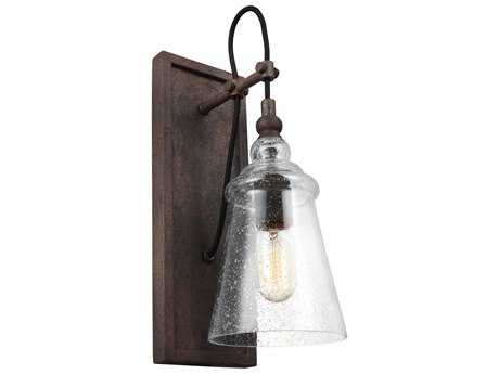 Feiss Loras Dark Weathered Iron One-Light 5.75'' Wide Edison Wall Sconce FEIWB1850DWI