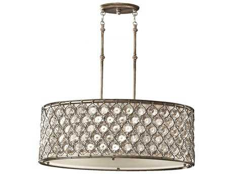 Feiss Lucia Burnished Silver Three-Light Pendant Light FEIF25693BUS