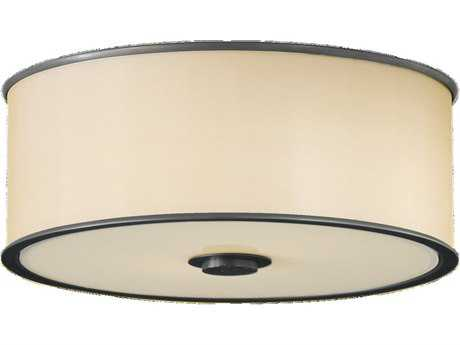 Feiss Casual Luxury Dark Bronze Glass Flush Mount Light