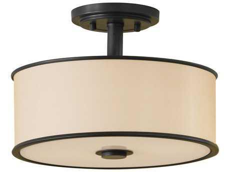 Feiss Casual Luxury Dark Bronze Semi-Flush Mount FEISF251DBZ