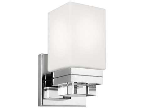 Feiss Maddison Polished Nickel 5'' Wide Vanity Light with Opal Etched Glass Shade FEIVS20601PN