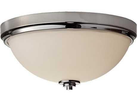Feiss Malibu Polished Nickel Glass Flush Mount Light FEIFM372PN