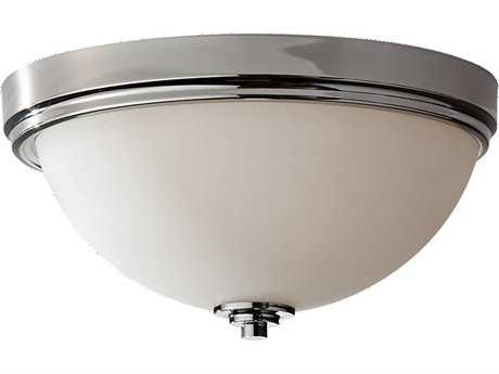 Feiss Malibu Polished Nickel Glass Flush Mount Light FEIFM373PN