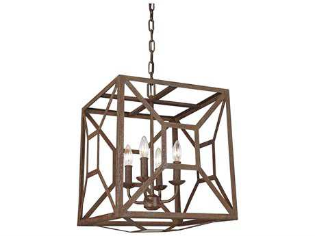 Feiss Marquelle Weathered Iron Four-Light 17'' Wide Mini-Chandelier