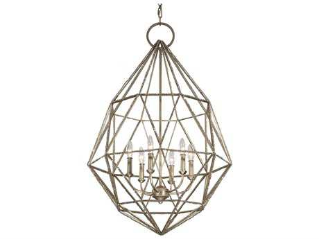 Feiss Marquise Burnished Silver 24.5'' Wide Six-Light Chandelier