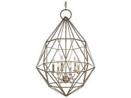 Marquise Burnished Silver 24.5'' Wide Six-Light Chandelier