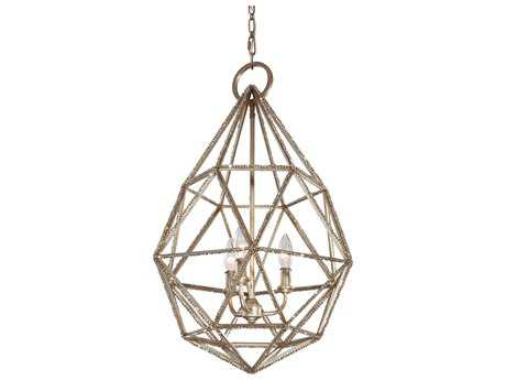 Feiss Marquise Burnished Silver Three-Light 17.63'' Wide Pendant Light