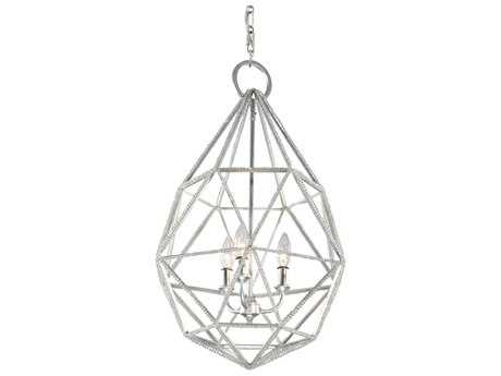 Feiss Marquise Silver Three-Light 17.63'' Wide Pendant Light