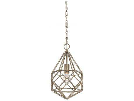 Feiss Marquise Burnished Silver 9.63'' Wide Edison Bulb Pendant Light