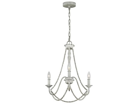 Feiss Maryville Washed Grey 19'' Wide Mini Chandelier