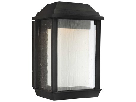 Feiss McHenry Textured Black 7'' Wide Small LED Outdoor Wall Light FEIOL12800TXBL1