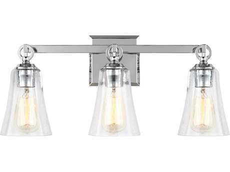 Feiss Monterro Chrome Three-Light 21.75'' Wide Edison Vanity Light FEIVS24703CH