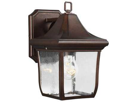 Feiss Oakmont Patina Bronze One-Light 6.5'' Wide Edison Outdoor Wall Latern