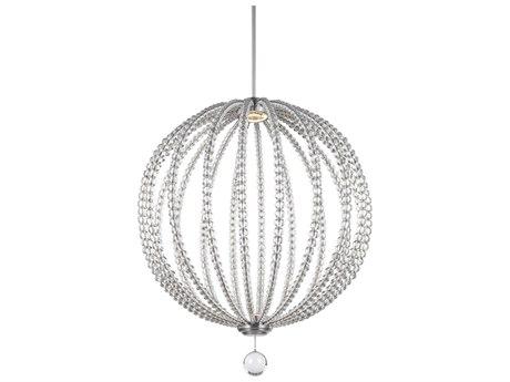 Feiss Oberlin Satin Nickel Two-Light 32'' Wide LED Pendant Light FEIP1428SNL1