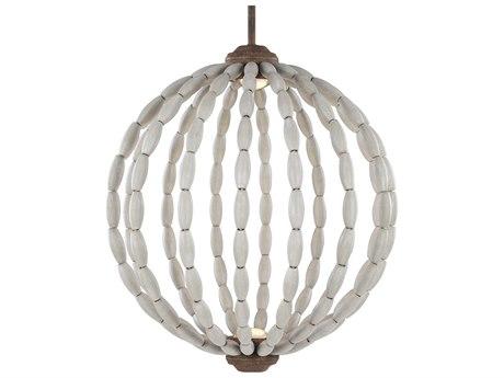 Feiss Orren Driftwood Grey / Weathered Iron Two-Light 20'' Wide LED Pendant Light FEIP1432DWGWIL1